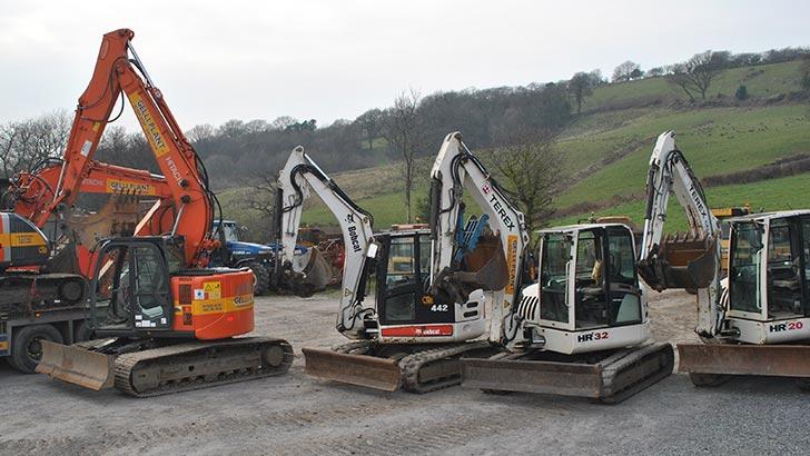 excavator hire ammanford